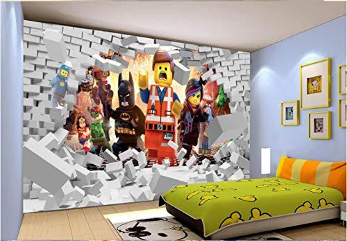 3d Lego Avengers Behang Muurschildering Cartoon Behang Kinderen Slaapkamer Kamer Decoratie Tv Achtergrond Wandbekleding Foto Behang