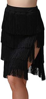 Clicks Tanzrock Tanzkleid mit Quaste Trainingsrock Latein Ballsaal Tango Schaukel Rumba Salsa Kostüm Kleid für Mädchen und Damen