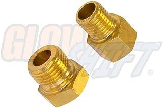 GlowShift Oil Pressure & Water Temperature Sensor Thread Adapter Swap Kit for Chevy LS1 LS2 LS3 LS7 LSX Engines