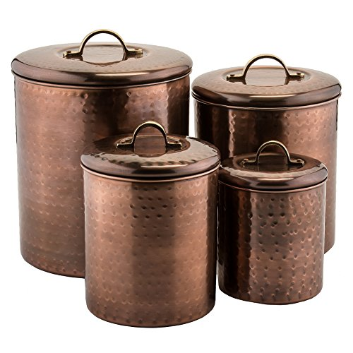 Old Dutch Hammered Canister (Set of 4) Antique Copper