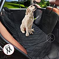 Dog Car Seat Cover with Side Flaps, Storage Pocket & Mesh Window