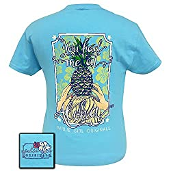 Girlie Girls Had Me at Aloha Pineapple Preppy Short Sleeve T-Shirt