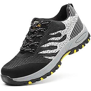 51HWYVYmAnL. SS300  - Zapatos de Seguridad para Hombre Zapatillas Zapatos de Mujer Seguridad de Acero Ligeras Calzado de Trabajo para Comodas Unisex Zapatos de Industria y Construcción