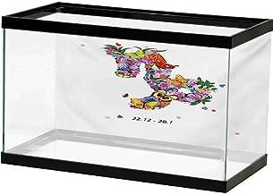bybyhome Underwater World Backdrop Zodiac Capricorn,Animal Design with Mythological Origins Tribal Swirled Motifs Pattern,Multicolor Background Sticker