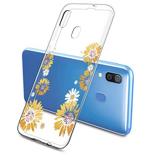 Oihxse Funda Compatible con Samsung Galaxy J5 Prime/ON5 2016, Carcasa Silicona Transparente TPU Ultra Hybrid Protector Flexibilidad Gel Flores de Cerezo Romance Dibujos Diseño(Flores A3)