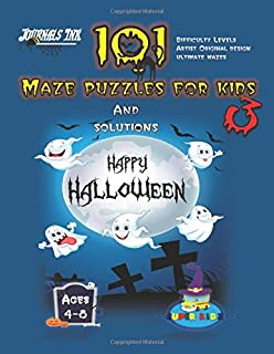 101 Maze Puzzles for Kids 3: SUPER KIDZ Brand. Children - Ages 4-8 (US Edition). Halloween custom art interior. 101 Puzzles with solutions - Easy to ... (SuperKidz - Maze Puzzle Books for Kids)