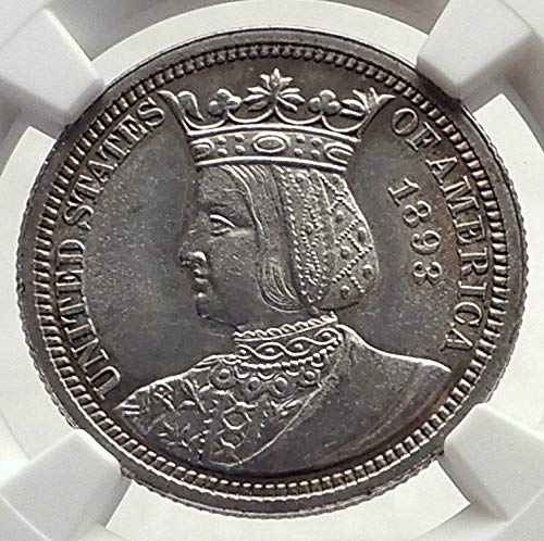 1893 unknown 1893 World's Fair Commemorative ISABELLA QUARTER coin MS 62 NGC