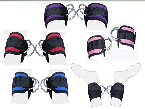 2Fit Fußschlaufe, mit Riemen und doppelten D-Ringen, vielseitig einsetzbar bei Sport- und Fitnessübungen, violett