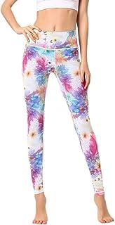 Beauty_yoyo Women's Sport Leggings Yoga Printed Gym Pants Tummy Control Outfits Workout Fitness
