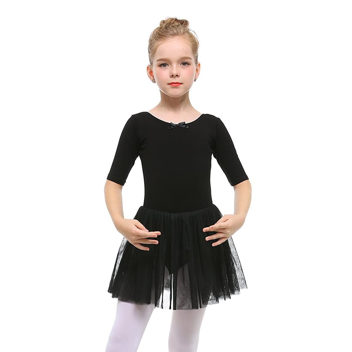STELLE Toddler/Girls Cute Tutu Dress Leotard for Dance, Gymnastics and Ballet