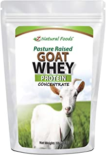 Goat Whey Protein Powder Concentrate - Unflavored & Undenatured - Grass Fed in USA - Good Source of BCAA - No Hormones or ...