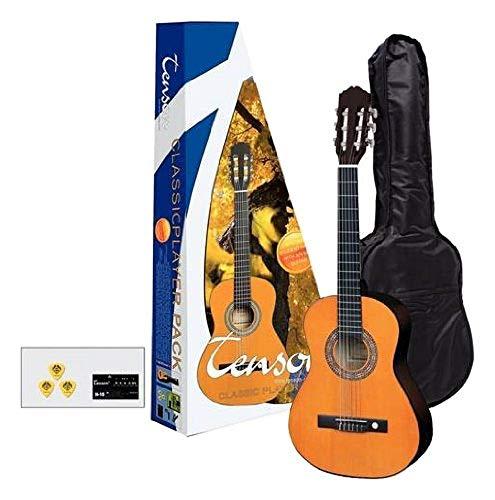 Tenson F502090 - Pack guitarra clásica 3/4, color miel