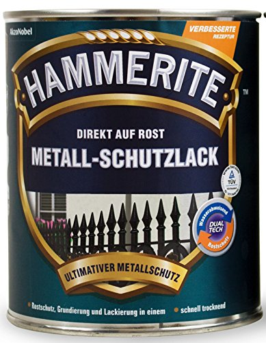 1L Hammerite Metallschutz Lack schwarz matt