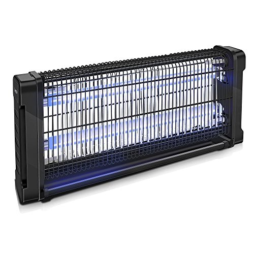 SereneLife UV Mosquito Trap, Battery Bug Zapper Outdoor, Fly Trap Light Indoor, In Home Bug Zapper, Indoor Flying Insect Killer, Eco Friendly, 500+ Ft, Flies, Mosquitoes, Beetles, Moths (PSLBZ15)