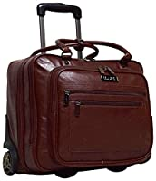 Kenneth Cole Reaction Wheel Fast Double Compartment Top Zip Wheeled Computer Case Overnighter (Brown)
