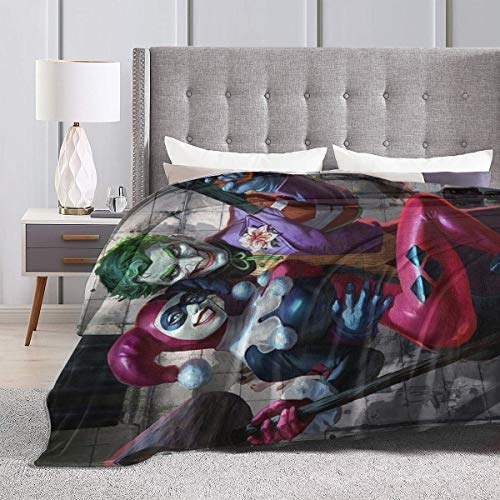 51HWc2uE5NL Harley Quinn Blankets