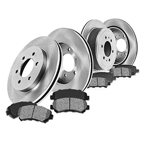 CRK14031 FRONT 329 mm + REAR 342 mm Premium OE 6 Lug [4] Rotors + [8] Metallic...