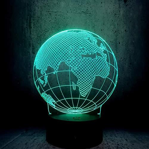 Nachtlicht Sex Design, Globus Weltkarte 3D LED Lichter 7 Farbwechsel Stimmung Birne Kinder Schreibtisch Dekor Gadgets Geschenk Spielzeug