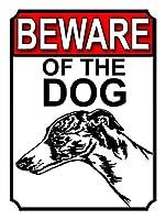 犬の壁に注意してください錫サイン金属ポスターレトロプラーク警告サインヴィンテージ鉄の絵画の装飾オフィスの寝室のリビングルームクラブのための面白いハンギングクラフト