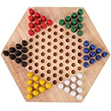 Alomejor Wooden Checkers Kids Educational Checkers Table Game Set for Children Early Educational