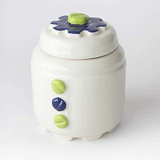 Azucarero de Cerámica Artesanal, Más colores disponibles, diseño mecánico con engranajes y tornillos - h 10,5 x Ø 8cm (Ver...