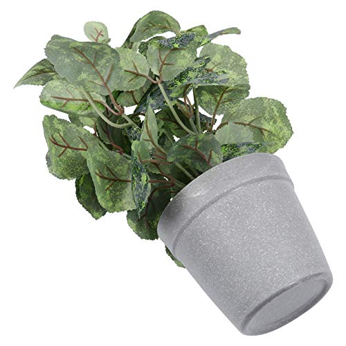 YARDWE Artificial Potted Plants Mini Potted Fake Plants Mulberry Bonsai for Home Table Decoration Ornaments Green