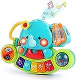 LUKAT Baby Musik Spielzeug für 6 9 12 18 Monate Kleinkinder, Elefant Musikspielzeug mit Licht & Ton...
