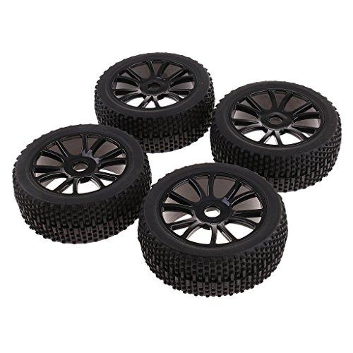 F Fityle 4 Piezas RC Car 1/8 Neumáticos 17mm Buje Llantas Y Neumáticos para Piezas de Coche HSP
