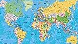 Puzzles Madera Rompecabezas Mapa del Mundo Estándar De 1500 Piezas Muy Desafiante...