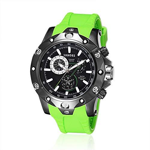 Armbanduhr,Elektronische Quarzuhr Timing Multifunktions wasserdichte Sportuhr, Grün