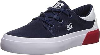 DC Boys' Trase Skate Shoe, Navy/White, 12 M M US Little Kid