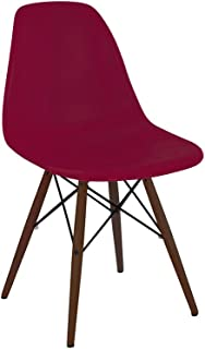 Design Lab MN LS-9440-CLAWAL Trige Red/Walnut Dining Chair Set of 2