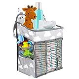 Zwini Multifunktionale Nachttischtasche zum Aufhängen, Aufbewahrungstasche Baby Kindergarten Veranstalter tragbare hängende Windel Windel Caddy Veranstalter
