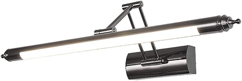 BAIJJ Led-Spiegel Frontleuchte Bad Wasserdicht Anti-Fog Spiegelschrank Licht Modernen Minimalistischen Stretch Spiegel Scheinwerfer Bad Wandleuchten (Farbe  Warmwei light-56CM)