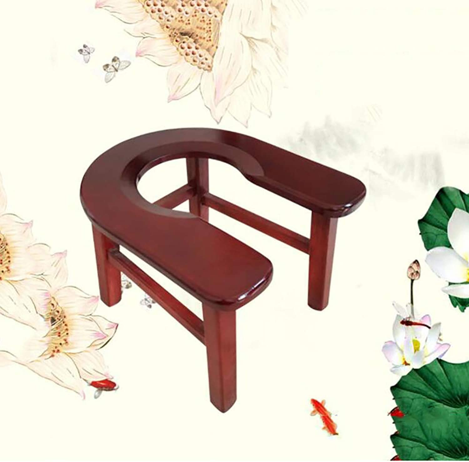 Commode Chair Toilet Chair Toilet Surround Natural Wood Stool Wooden Toilet Simple Mobile Toilet Seat,A+Height20cm