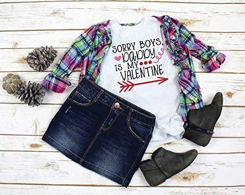 Sorry Boys My Heart Belongs To Daddy_ Daddy's Girl_ Valentine Shirt for Girls_ Girls Valentine Shirt_ Heart Belongs to Daddy Shirt (Sorry Boys My Heart Belongs To Daddy)