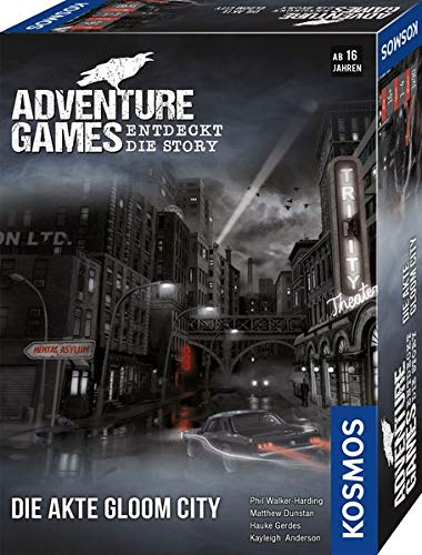 KOSMOS 695200 Adventure Games - Die Akte Gloom City. Entdeckt die Story, Kooperatives Gesellschaftsspiel für 1 bis 4 Spieler ab 16 Jahre, spannendes Abenteuer-Spiel