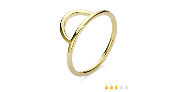 Mecoo 925 Sterling Silver Plated 14K Gold Two Lines Minimalist Stacking Ring Chevron RingTriangle Ring Geometry Inspired Minimalist Delicate Ring Birthday Xmas Gifts