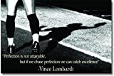 Vince Lombardi Quote - Perfection - Classroom Motivational Poster