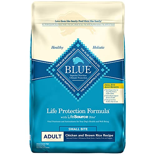 Blue Buffalo Life Protection Formula Natural Adult Small Bite Dry Dog Food, Chicken and Brown Rice 30-lb