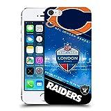 Head Case Designs Officiel NFL Bears VS. Raiders 2019 London Games Coque Dure pour l'arrière Compatible avec iPhone 5 iPhone 5s...
