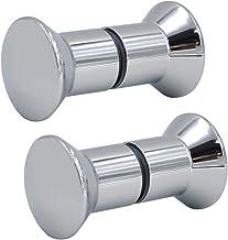FOCCTS 2 paar douchedeurknop roestvrij staal douchedeurgreep deurknop douche handvat beslag deurgreep dubbele knoppen hoog...