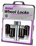 McGard 25112 Black (M14 x 1.5 Thread Size) Tuner Style Cone Seat Wheel Lock, (Set of 4)