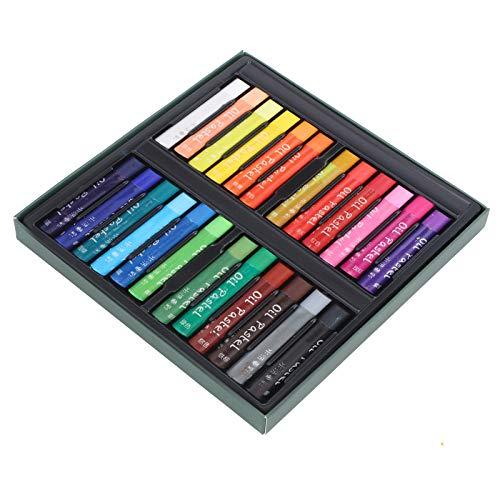 Herramientas de pintura, lápices de colores al óleo, graffiti de colores intensos de colores brillantes para la escuela de estudiantes