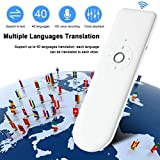Roebii Traductor de Voz Inteligente, Smart Languages Translator WiFi, portátil,en Tiempo Real, tradu...