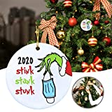 KENANLAN Lustige Weihnachtsdekoration 2020 Stink Stank Stunk Funny Grinch Ornament Corona Christmas Covid Ornament Xmas Ornaments Christmas 2020