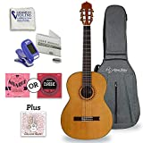Antonio Giuliani Classical Mahogany Guitar Outfit With Under-Saddle Pickup (CL-5) - Acoustic Guitar with Case and Accessories By Kennedy Violins