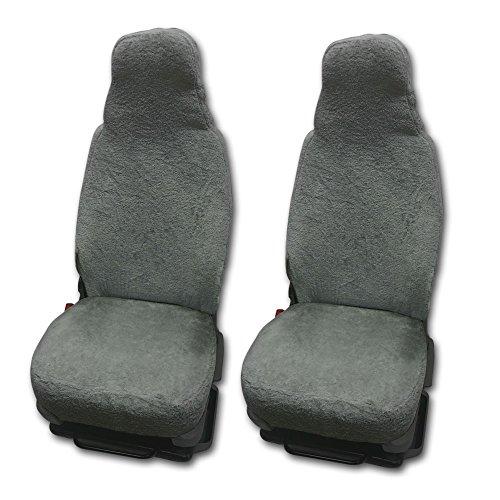 RAU Universal Sitzbezuge Schonbezüge aus 100{3d6b33cf7bd6e81ad01218fd11a88c429bb5278ad9f0019e22a57c24f5b2dc57} Frottee Farbe: elefant für Pilotsitze und Wohnmobile