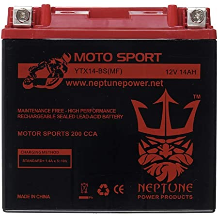 Yuasa High Perf Maint Free Battery YTX14AHL-BS Honda CB1100F Super Sport 1983