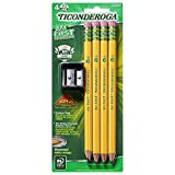 """Large size diameter (13/32"""") is ideal for children in the early stages of their writing Development Exclusive #2 graphite formula provides extra smooth performance Pre-sharpened to save you time, Includes bonus sharpener Top quality, latex-free erase..."""